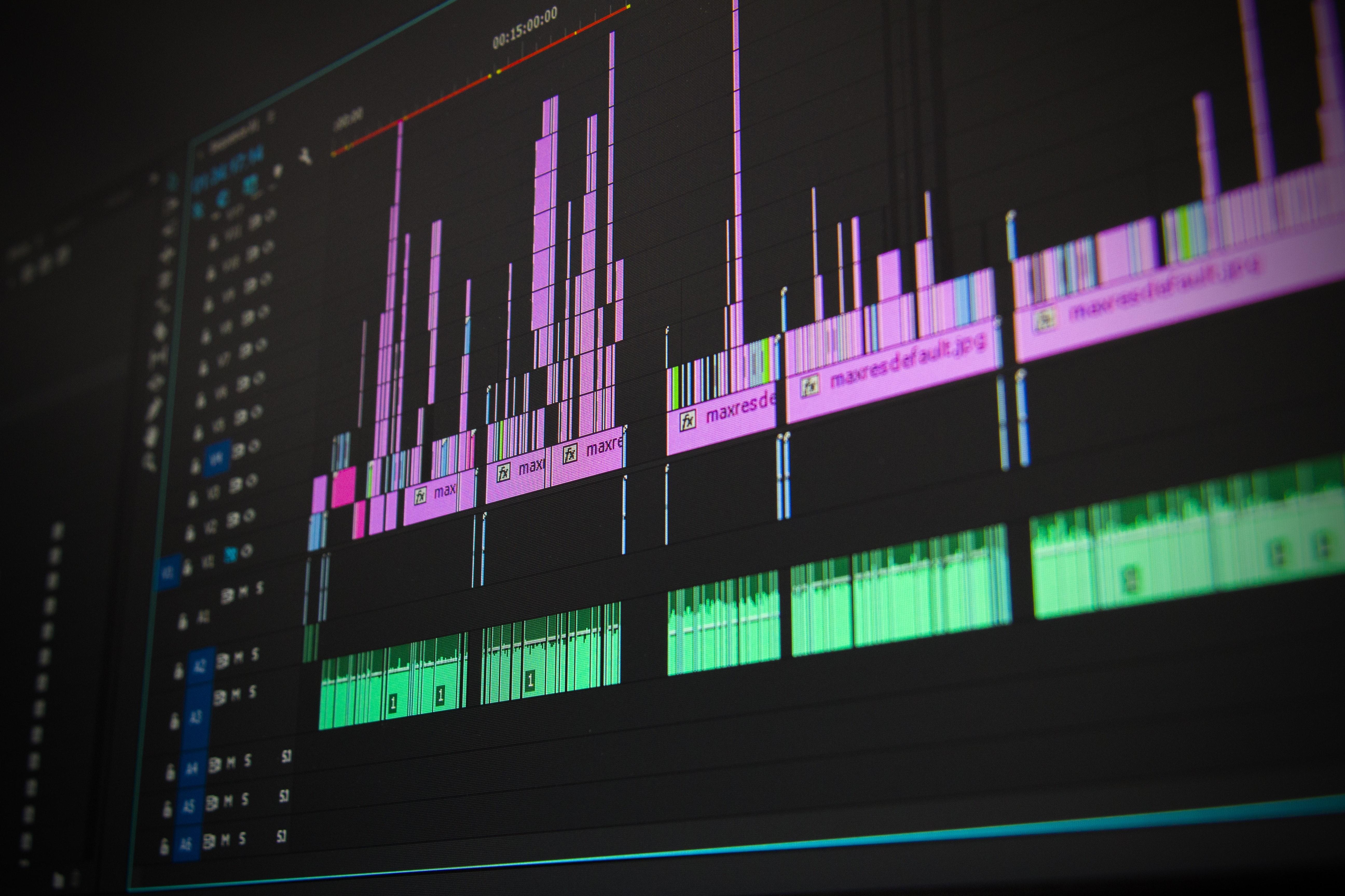 Ljudredigeringen görs med digitala verktyg.