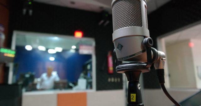 En mikrofon för ljudinspelning.